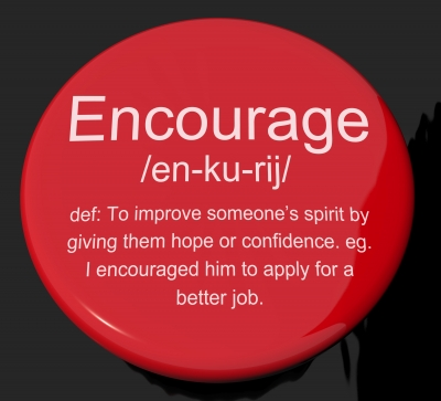 Encouragement Button Red
