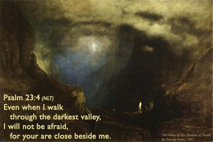 The Valley of the Shadow of Death 1867 George Inness with Words 700